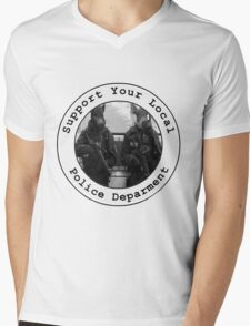 """Support Your Local Police Department"" Mens V-Neck T-Shirt"