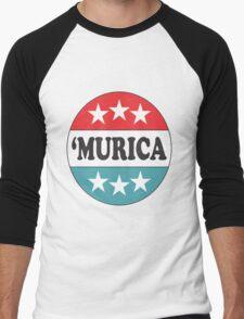'Murica Pride Men's Baseball ¾ T-Shirt