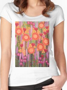 Flowers in Spring Women's Fitted Scoop T-Shirt