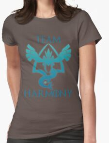 Team Harmony - White  Womens Fitted T-Shirt