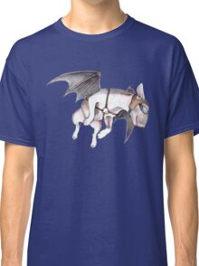 If Pigs Could Fly - on blue Classic T-Shirt