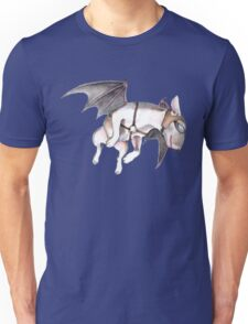 If Pigs Could Fly - on blue Unisex T-Shirt
