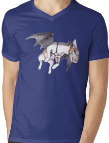 If Pigs Could Fly - on blue Mens V-Neck T-Shirt