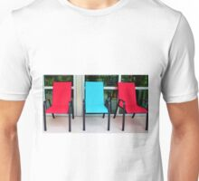 Red And Blue Chairs Unisex T-Shirt