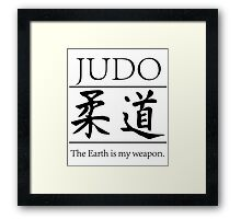 Judo; hitting your opponent with the planet. Framed Print
