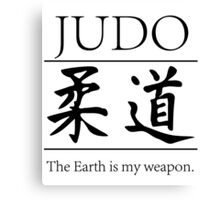 Judo; hitting your opponent with the planet. Canvas Print