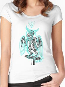 Skeleton of an Owl, with ghostly overlay Women's Fitted Scoop T-Shirt
