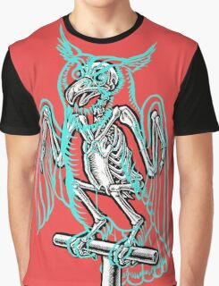 Skeleton of an Owl, with ghostly overlay Graphic T-Shirt