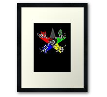 Voltron Lions Framed Print
