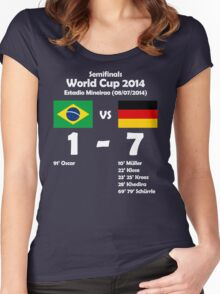 Brazil 1 - Germany 7 2014 Women's Fitted Scoop T-Shirt