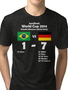 Brazil 1 - Germany 7 2014 Tri-blend T-Shirt