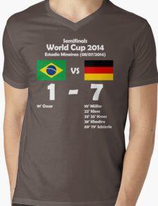 Brazil 1 - Germany 7 2014 Mens V-Neck T-Shirt