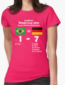 Brazil 1 - Germany 7 2014 Womens Fitted T-Shirt