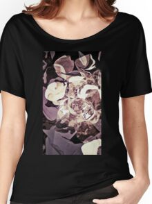 Purple Orchid Chaos - Floral Geometry Study  Women's Relaxed Fit T-Shirt