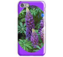 Oval Lupins Vignette iPhone Case/Skin