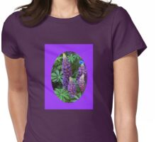 Oval Lupins Vignette Womens Fitted T-Shirt
