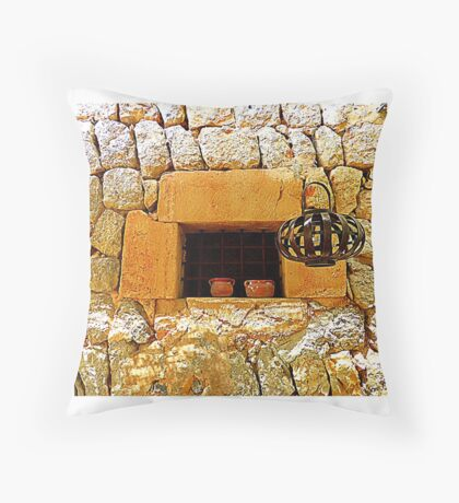 The Stone Window Throw Pillow