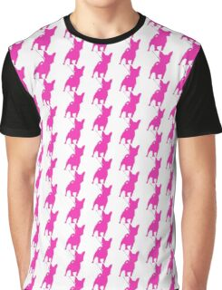 Pink Chihuahua Silhouette Graphic T-Shirt