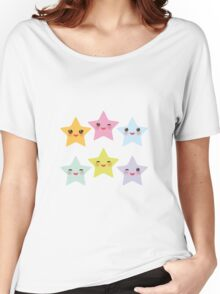 Smiling Stars Women's Relaxed Fit T-Shirt