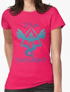Team Harmony - Black Womens Fitted T-Shirt