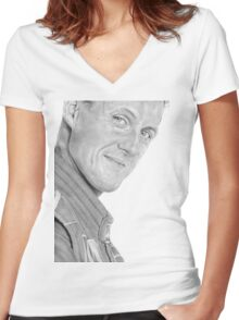schumacher Women's Fitted V-Neck T-Shirt