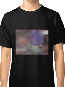 Purple Planet in Space Classic T-Shirt