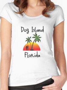 Dog Island Florida. Women's Fitted Scoop T-Shirt