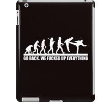 Funny Human Evolution iPad Case/Skin