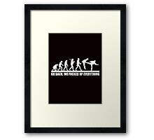 Funny Human Evolution Framed Print