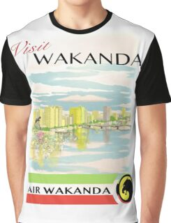 Visit Wakanda- Vintage Travel Ad Graphic T-Shirt