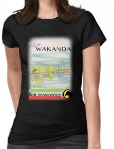 Visit Wakanda- Vintage Travel Ad Womens Fitted T-Shirt