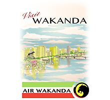 Visit Wakanda- Vintage Travel Ad Photographic Print