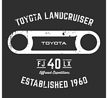 Toyota 40 Series Landcruiser FJ40 LX Round Bezel Est. 1960 Photographic Print