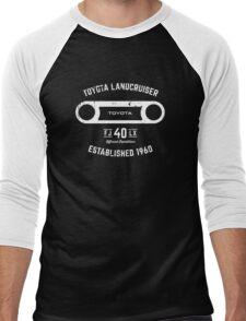 Toyota 40 Series Landcruiser FJ40 LX Round Bezel Est. 1960 Men's Baseball ¾ T-Shirt