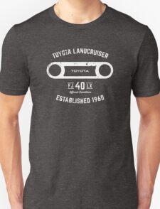 Toyota 40 Series Landcruiser FJ40 LX Round Bezel Est. 1960 Unisex T-Shirt