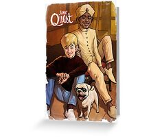 Jonny Quest And Hadji Greeting Card