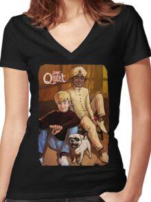 Jonny Quest And Hadji Women's Fitted V-Neck T-Shirt