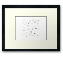 Origami Animals Framed Print