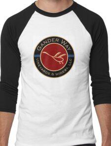 Gander Way Vineyards & Winery, LLC Logo Men's Baseball ¾ T-Shirt