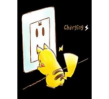 Pikachu - Charging Photographic Print