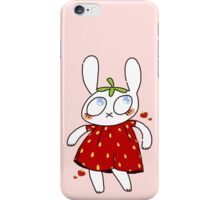strawbunny iPhone Case/Skin