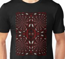 Red and Black 3D Kaleidoscope Pattern  Unisex T-Shirt