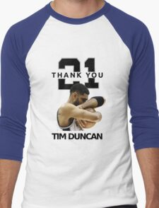 Thank You Timmy - Spurs NBA  Men's Baseball ¾ T-Shirt