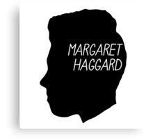 Margaret Haggard Logo - Black Canvas Print