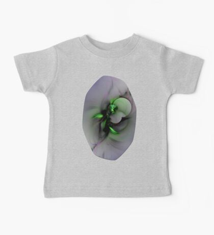 Abstract in Black and Green Baby Tee