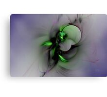 Abstract in Black and Green Canvas Print