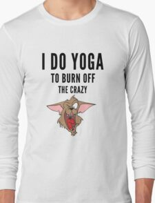 Yoga, funny Crazy Cartoon  Long Sleeve T-Shirt