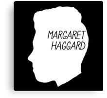 Margaret Haggard Logo - White Canvas Print