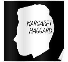 Margaret Haggard Logo - White Poster