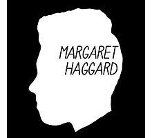 Margaret Haggard Logo - White Photographic Print